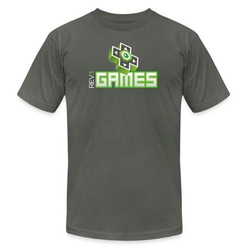 rev3gamesstackeddarkbackground - Unisex Jersey T-Shirt by Bella + Canvas