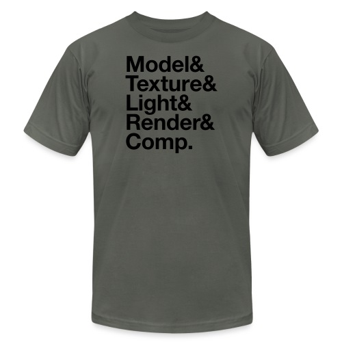 Model Texture Light Render Comp - Unisex Jersey T-Shirt by Bella + Canvas