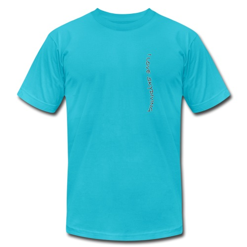 I love skydiving/T-shirt/BookSkydive - Unisex Jersey T-Shirt by Bella + Canvas
