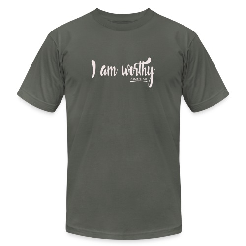 I am worth Romans 5:8 - Unisex Jersey T-Shirt by Bella + Canvas