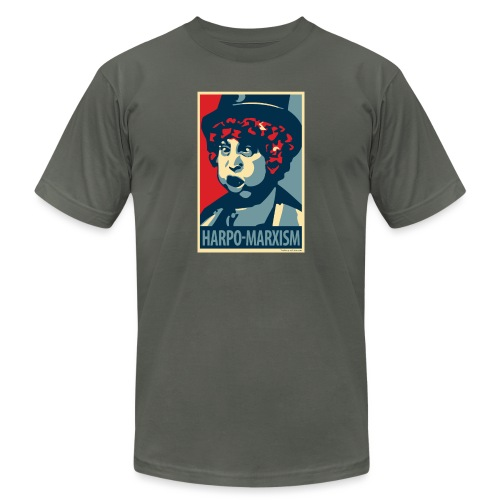 Harpo Marxism: parody of Obama poster - Unisex Jersey T-Shirt by Bella + Canvas