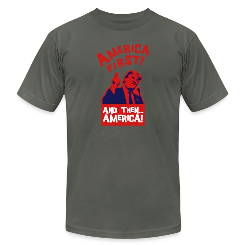 AMERICA FIRST - Unisex Jersey T-Shirt by Bella + Canvas