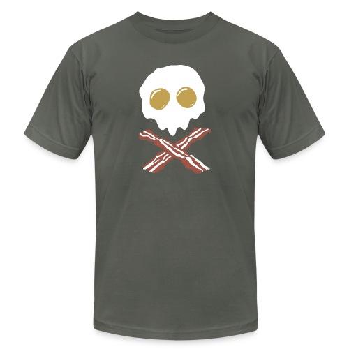 Breakfast Skull - Unisex Jersey T-Shirt by Bella + Canvas
