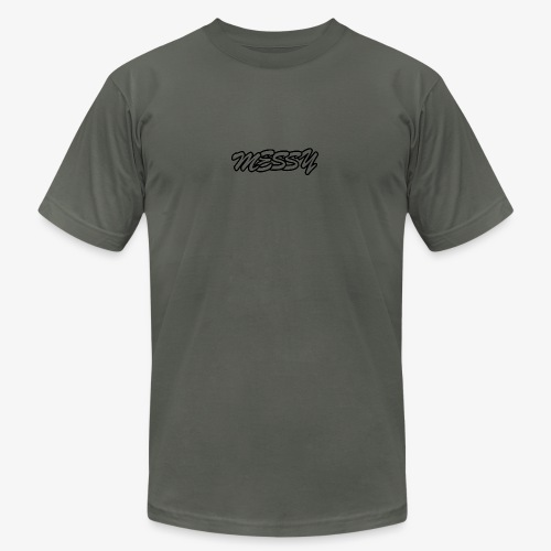 messy text logo - Men's  Jersey T-Shirt