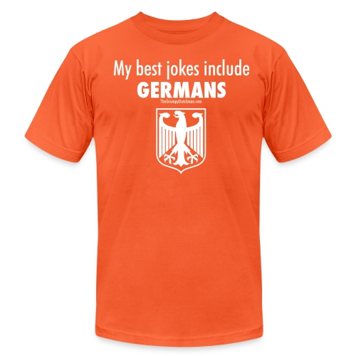 17 Germans white lettering - Unisex Jersey T-Shirt by Bella + Canvas
