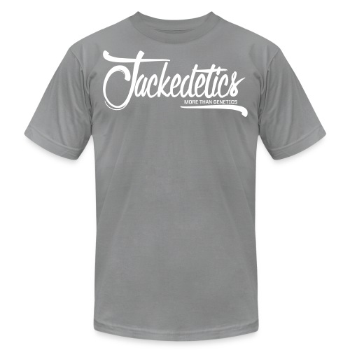 Jackedetics Cursive - Unisex Jersey T-Shirt by Bella + Canvas