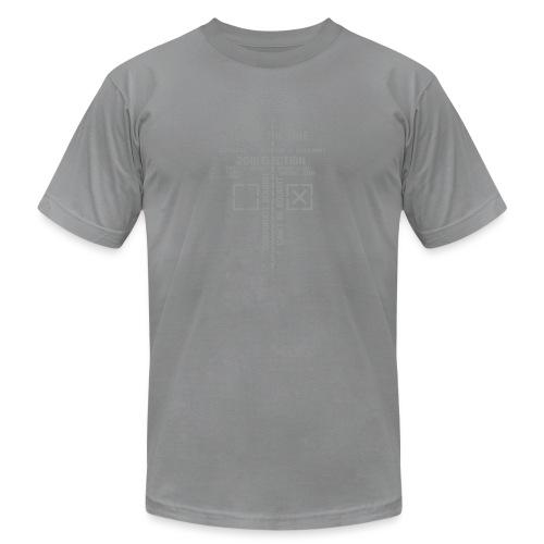 2016_Draw_The_Line_noSten - Unisex Jersey T-Shirt by Bella + Canvas