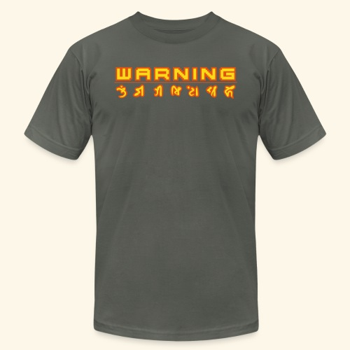 warning_front - Men's Jersey T-Shirt