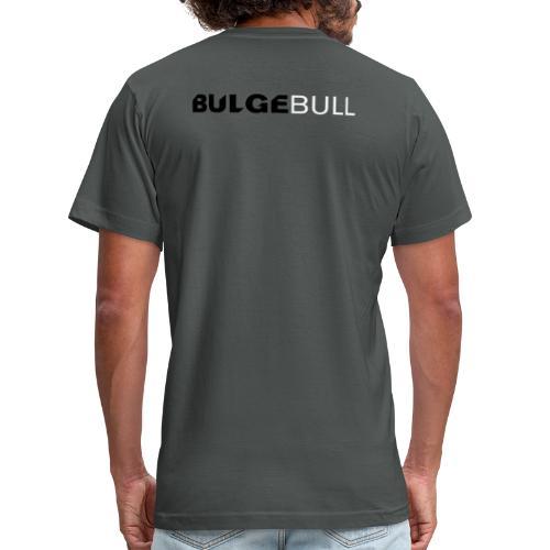 bulgebull logo white - Unisex Jersey T-Shirt by Bella + Canvas