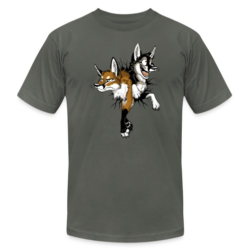 STUCK Foxes (double-sided) - Unisex Jersey T-Shirt by Bella + Canvas