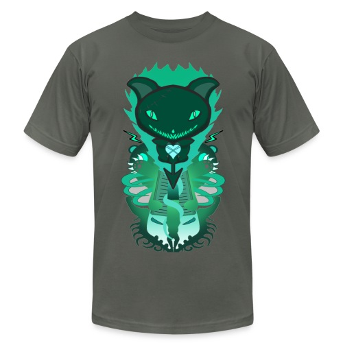 CUTE MONSTER CAT DESIGN SHIRT - Men's Fine Jersey T-Shirt