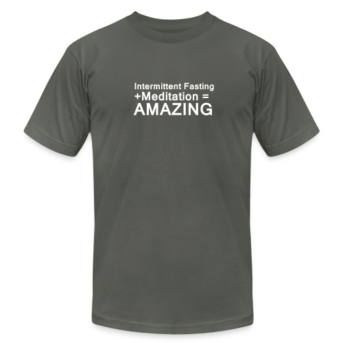 Intermittent Fasting and Meditation are Amazing - Men's Fine Jersey T-Shirt