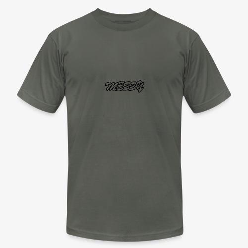 messy text logo - Men's Fine Jersey T-Shirt