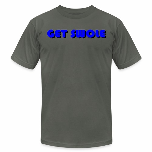GET SWOLE BLUE - Men's Fine Jersey T-Shirt