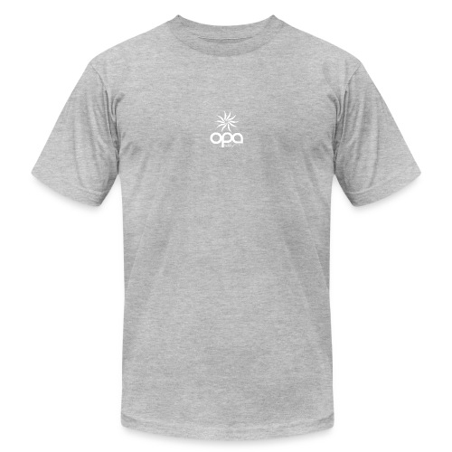 Short Sleeve T-Shirt with small all white OPA logo - Men's  Jersey T-Shirt
