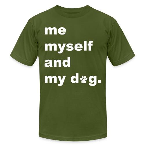 Me Myself And My Dog - Men's Jersey T-Shirt