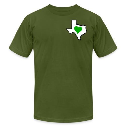 Texas Green Heart - Unisex Jersey T-Shirt by Bella + Canvas
