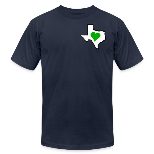 Texas Green Heart - Unisex Jersey T-Shirt by Bella + Canvas