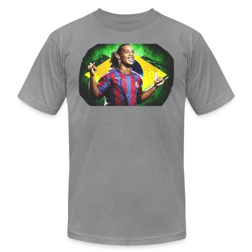 Ronaldinho Brazil/Barca print - Unisex Jersey T-Shirt by Bella + Canvas