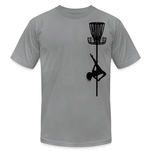 Disc Golf Diva Pole Dancer Black Print - Unisex Jersey T-Shirt by Bella + Canvas
