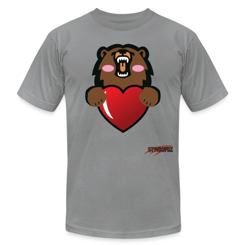 GrizLove rose - Unisex Jersey T-Shirt by Bella + Canvas