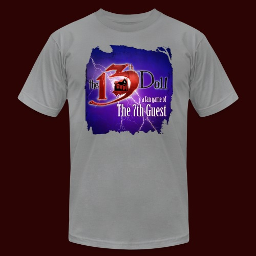 The 13th Doll Logo With Lightning - Unisex Jersey T-Shirt by Bella + Canvas