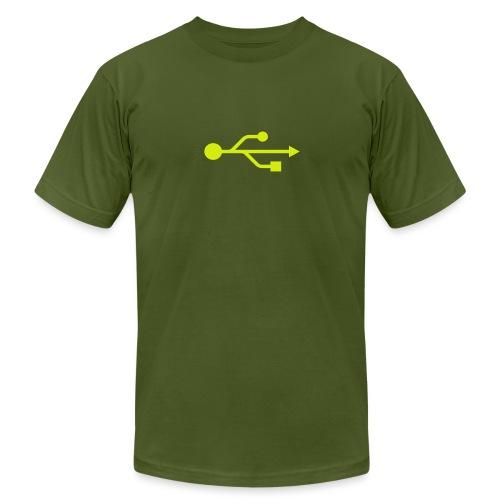 Yellow USB Logo Mid - Men's Jersey T-Shirt