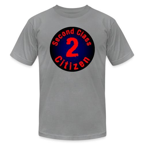 2nd Class Citizen Logo (Dark) - Unisex Jersey T-Shirt by Bella + Canvas