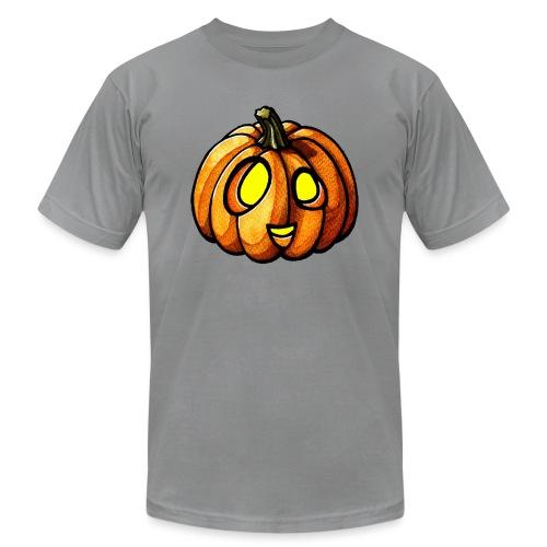 Pumpkin Halloween watercolor scribblesirii - Unisex Jersey T-Shirt by Bella + Canvas