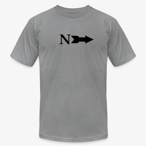 Narrow Logo Black - Unisex Jersey T-Shirt by Bella + Canvas