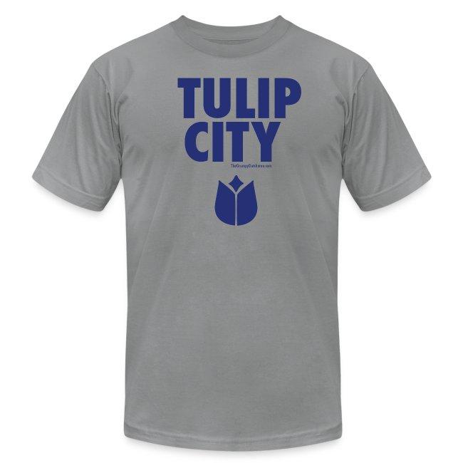 14 Tulip City blue lettering
