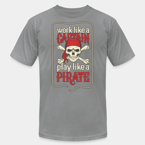 captain pirate - Unisex Jersey T-Shirt by Bella + Canvas