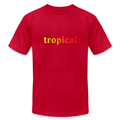 tropical - Unisex Jersey T-Shirt by Bella + Canvas