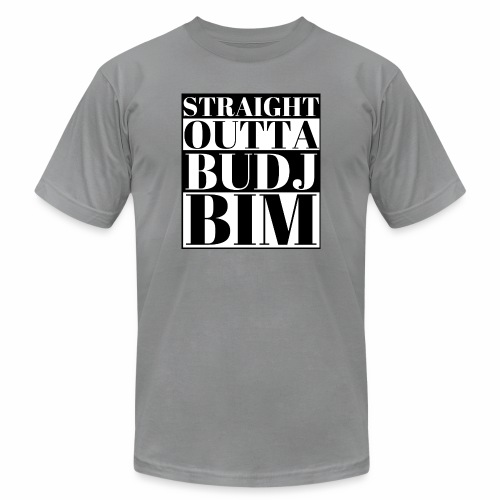 STRAIGHT OUTTA BUDJ BIM - Unisex Jersey T-Shirt by Bella + Canvas