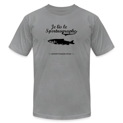 Je lis le Sportnographe - Unisex Jersey T-Shirt by Bella + Canvas