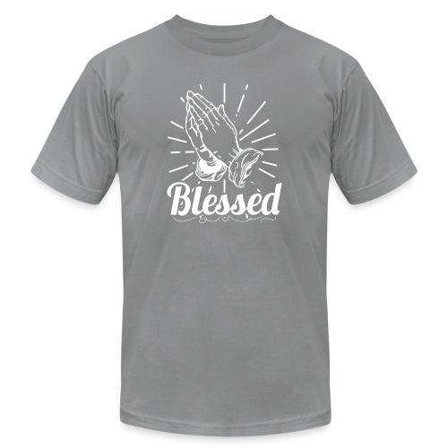 Blessed (White Letters) - Men's Jersey T-Shirt