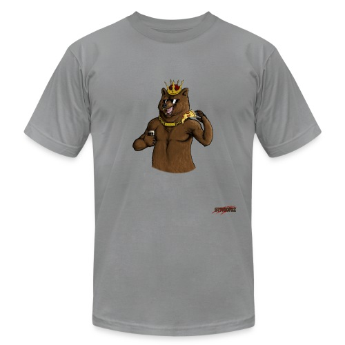 Party Bear King - Unisex Jersey T-Shirt by Bella + Canvas