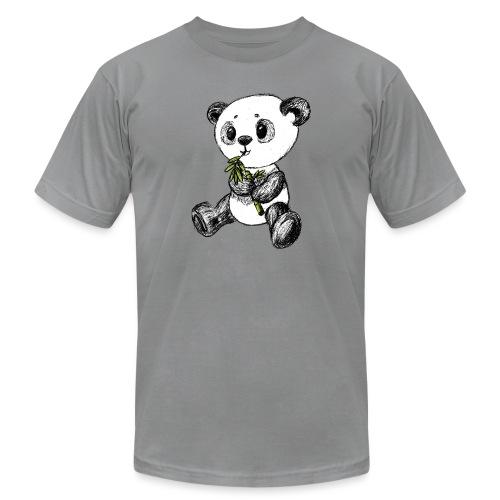 Panda bear colored scribblesirii - Unisex Jersey T-Shirt by Bella + Canvas