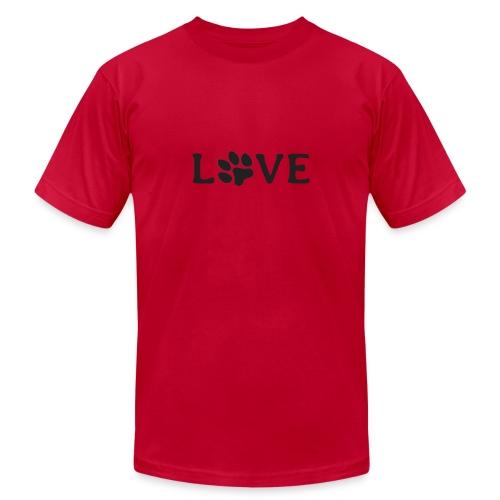 Love my dog - Unisex Jersey T-Shirt by Bella + Canvas