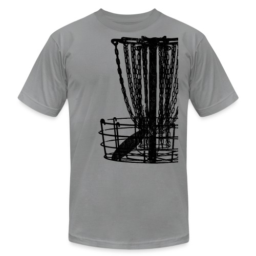 Distressed Disc Golf Basket Shirt Black Print - Unisex Jersey T-Shirt by Bella + Canvas