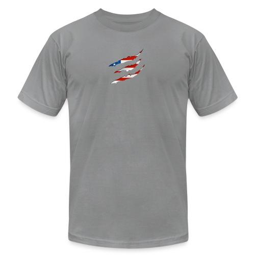 3D American Flag Claw Marks T-shirt for Men - Men's  Jersey T-Shirt