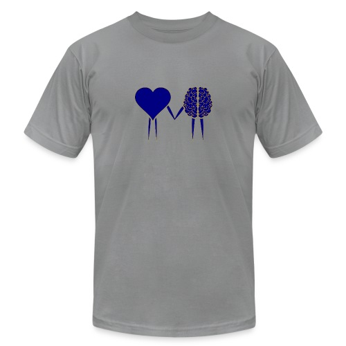 heart and brain - Unisex Jersey T-Shirt by Bella + Canvas