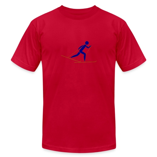cross country skiing - Unisex Jersey T-Shirt by Bella + Canvas