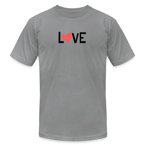 LOVE heart - Unisex Jersey T-Shirt by Bella + Canvas