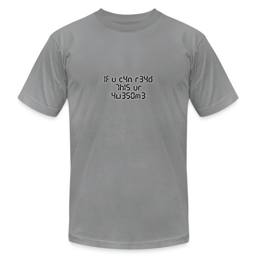 If you can read this, you're awesome - black - Unisex Jersey T-Shirt by Bella + Canvas