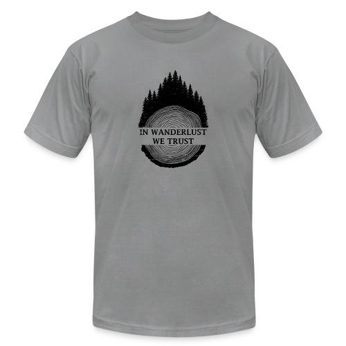 In Wanderlust We Trust - Unisex Jersey T-Shirt by Bella + Canvas