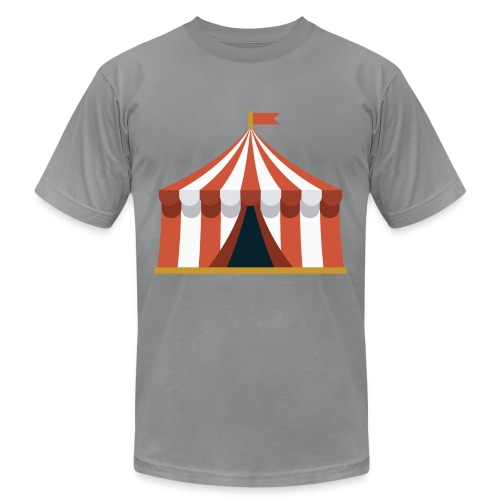 Striped Circus Tent - Unisex Jersey T-Shirt by Bella + Canvas