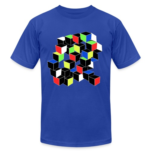 Optical Illusion Shirt - Cubes in 6 colors- Cubist - Unisex Jersey T-Shirt by Bella + Canvas