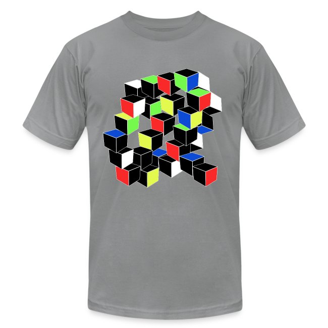 Optical Illusion Shirt - Cubes in 6 colors- Cubist
