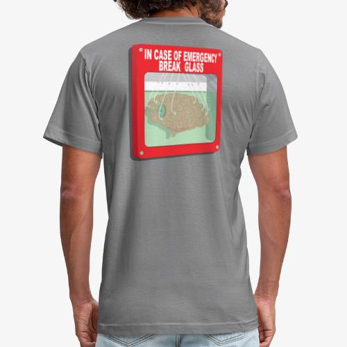 In case of emergency. Break glass and take a brain - Unisex Jersey T-Shirt by Bella + Canvas